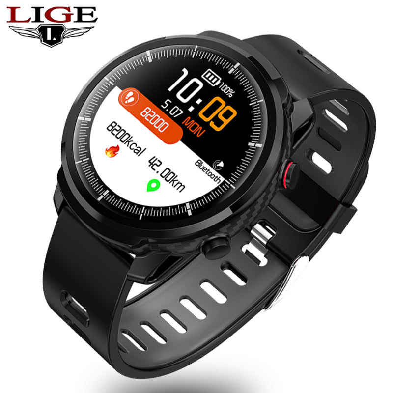 IP67 waterproof sports mode Bluetooth smart watch Men women Pedometer Heart rate monitor Blood pressure tracking Fitness watch