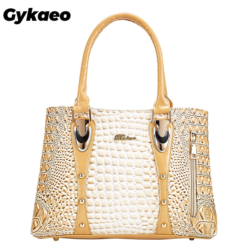 Gykaeo Famous Brand Women Handbags Ladies Hand Bags Luxury Handbags Women Bags Designer 2020 Crocodile Leather Bags for Women
