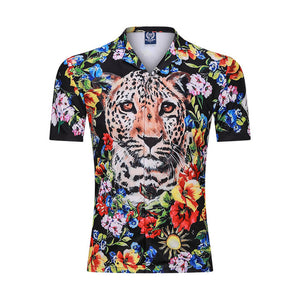 New 3D Men Beach Casual Shirt Printed Summer Short Sleeve Loose Streetwear Fashion Gym Sportwear Hip Hop Camisa Male Blouse 2020