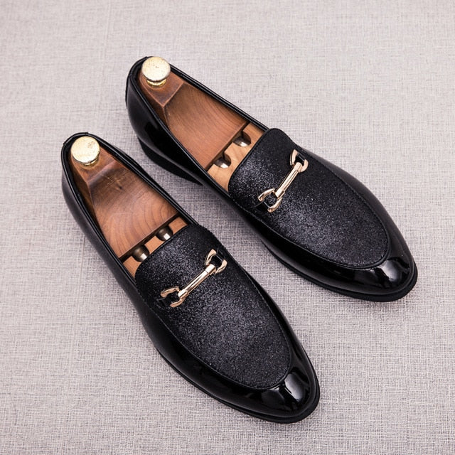 Fashion Pointed Toe business Dress Shoes Men Loafers Leather Oxford Shoes for Men Formal Mariage slip on Wedding party Shoes k4