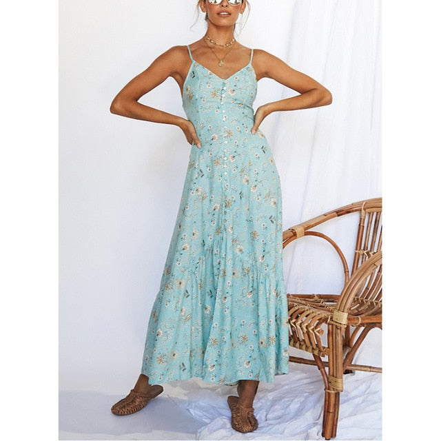 Midi Dress Women Summer Beach Dress Femme Casual Clothing Robe Backless Snake Print Chiffon Dress Lady Chic Elegant Dress 2020