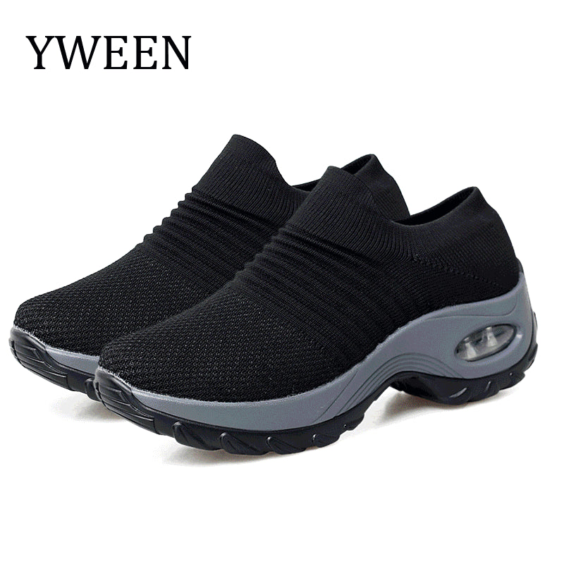 Women Platform Sneakers Spring ladies Wedges Casual Shoes Women Trainers Comfortable Femme Height Increasing Women Shoes