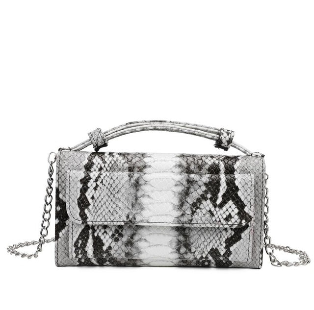 Luxury Genuine Python Leather Hand Bags Cross Body Shoulder Bag Snakeskin Designer Day Clutch Chain Crossbody Bag