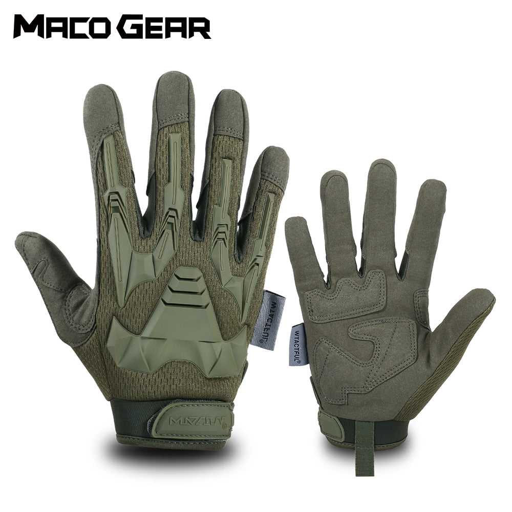 Sport Bike Cycling Gloves Windproof Wear Resistant Outdoor Hiking Riding Shockproof MTB Road Full Finger Bicycle Glove Men Woman