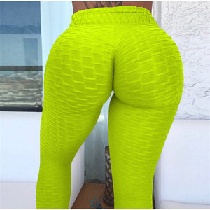 Sport Leggings Women Gym High Waist Push Up Yoga Pants Jacquard Fitness  Woman Tight Sport Pants