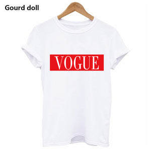 Harajuku WHY NOT Summer Printed T Shirt for Women White Tees & Tops Female lady Clothing Short Sleeve red Fashion T-shirts