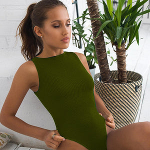 Sweetown Black Off Shoulder Tank Bodysuit Summer 2020 New Fashion O-Neck Body Women Fitness Clothing Basic Bodycon Bodysuits