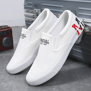 2020 Spring New Men's Shoes Plus Size 39-47 Casual Sneakers White Canvas Shoes Boys Sport Sneakers Comfortable Men Loafers