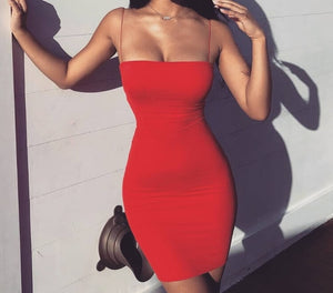 Hot Women Sexy Casual Mini Evening Halter Sleeveless Bodycon Thin Dress Ladies Solid Summer Short Dress 2019