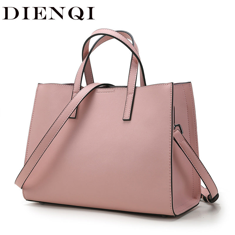 DIENQI Luxury Saffiano Genuine Leather Shoulder Bags Women Handbags New Arrivals 2020 Famous Brand Ladies Big Crossbody Bag Hand