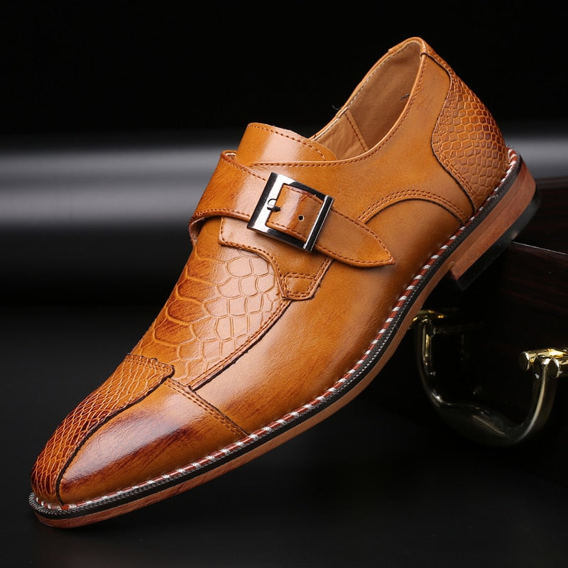 2020 Crocodile Pattern PU Leather Dress Shoes Men Shoes for Business Casual Big Size 48 Shoes