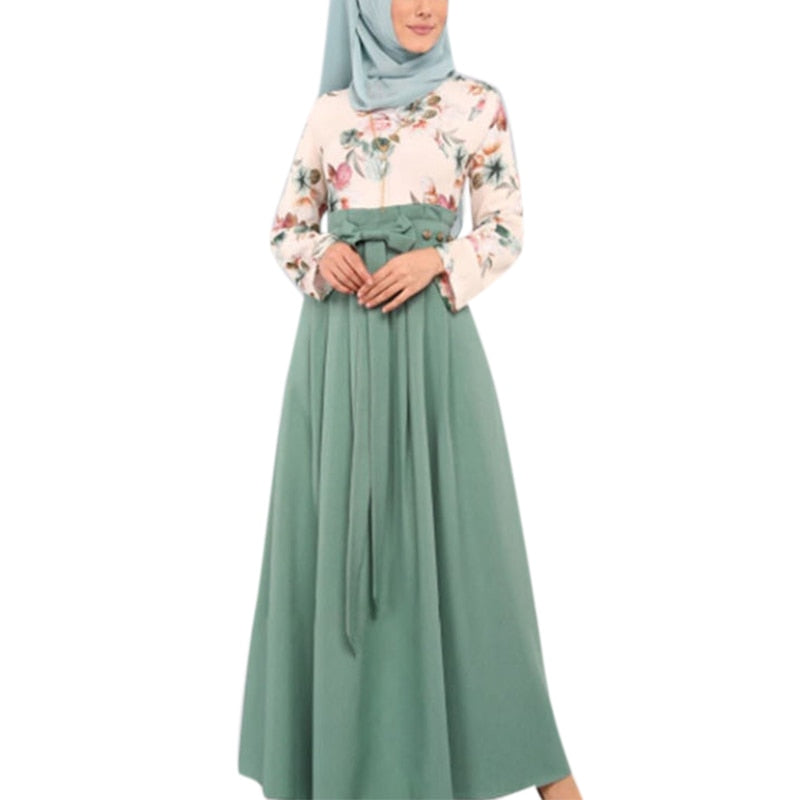 VICABO Ramadan Muslim Dress Islam Middle Eastern Arab Women Clothing Fashion Floral Dress Long Eid Dress Party #w
