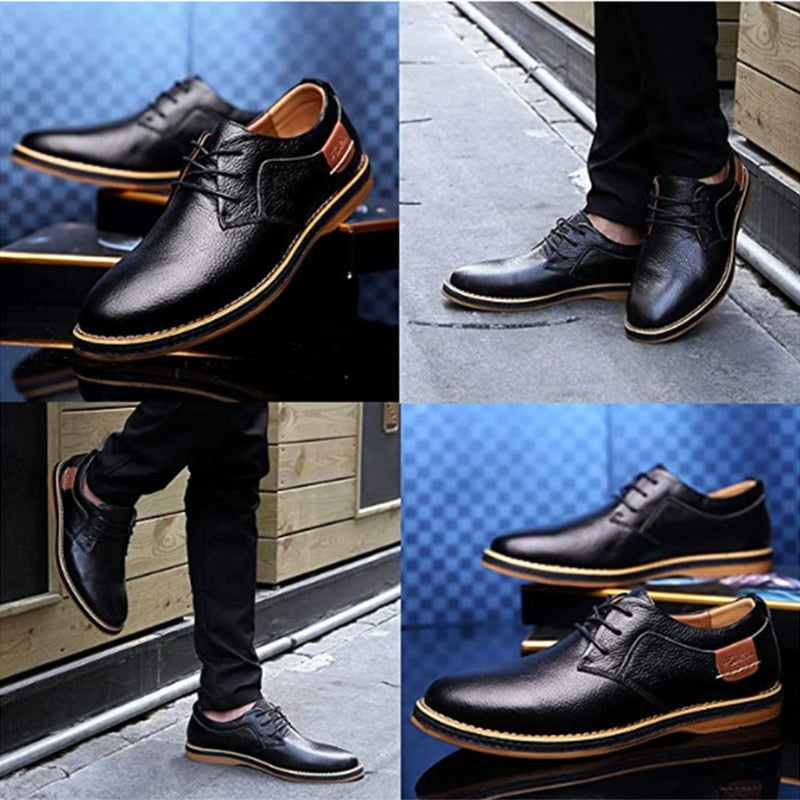 2020 New Hot Sale men dress shoes leather casual shoes soft Lightness Non-slip waterproof casual shoes Wear-resistant shoes