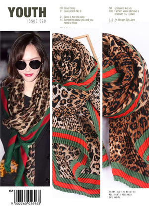 fashion Leopard Scarf women winter warm 2019 spring autumn Long warm Shawls and wraps foulard femme jijab luxury