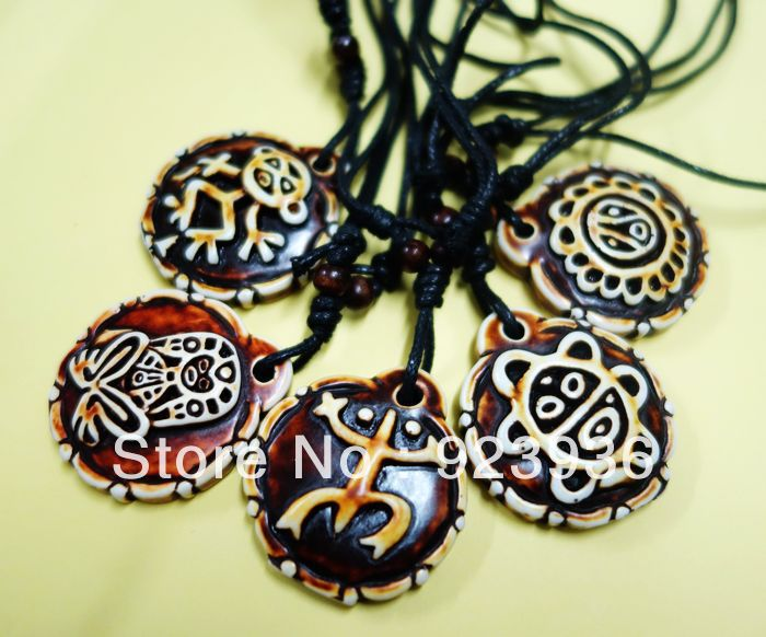 5PCS Taino Mix Sol de Utuado Puerto Rico pendant  Cool Men's and Womens Necklace