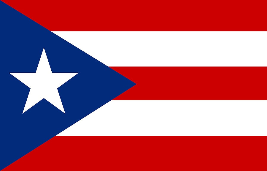 Puerto Rico Flag 3*5ft Banners Star and Strip 100D Polyester white Sleeve Metal Gromets