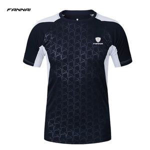 Pro Running T Shirt Gym Wear Men Round Collar Short Sleeve Compression Tights Athletic Sport Shirts Dry Fit Sportswear Patchwork