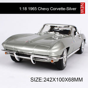 Maisto 1:18 diecast Car 1965 Chevy Corvette Muscle Cars 1:18 Alloy Car Metal Vehicle Collectible Models toys For Gift