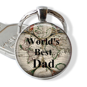 World's Best Dad Quote Key Chain Love Father Car Keychain Kering Father's Day Jewelry Gift for Dad