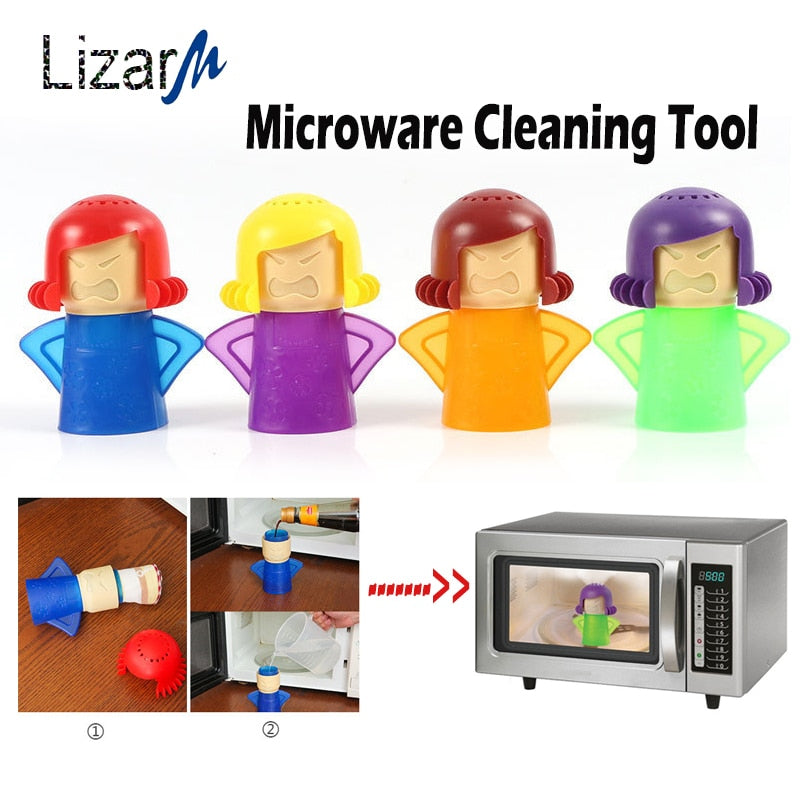 best selling 2019 products Angry Mama Microwave oven Steam Cleaner Refrigerator keep clean Kitchen cleaning tools Easily Cleans