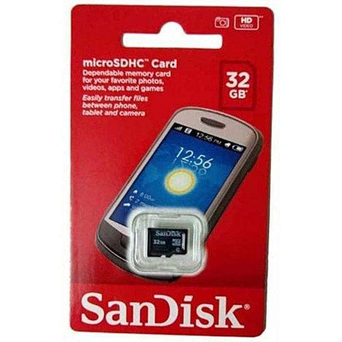 SanDisk 32GB Memory Card Class 4