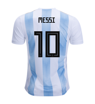 detailed look a9fde 8eac8 Messi Argentina World Cup 2018 Home Jersey
