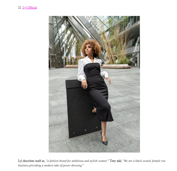 LYL Featured In Fashion Bomb Daily