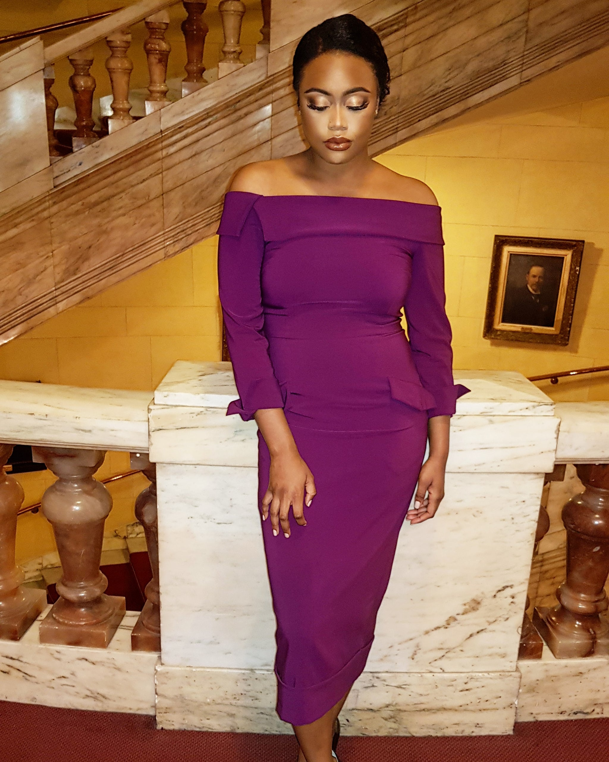 Rich Plum Duchess Dress