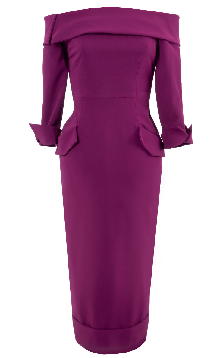 LYL Duchess dress in plum
