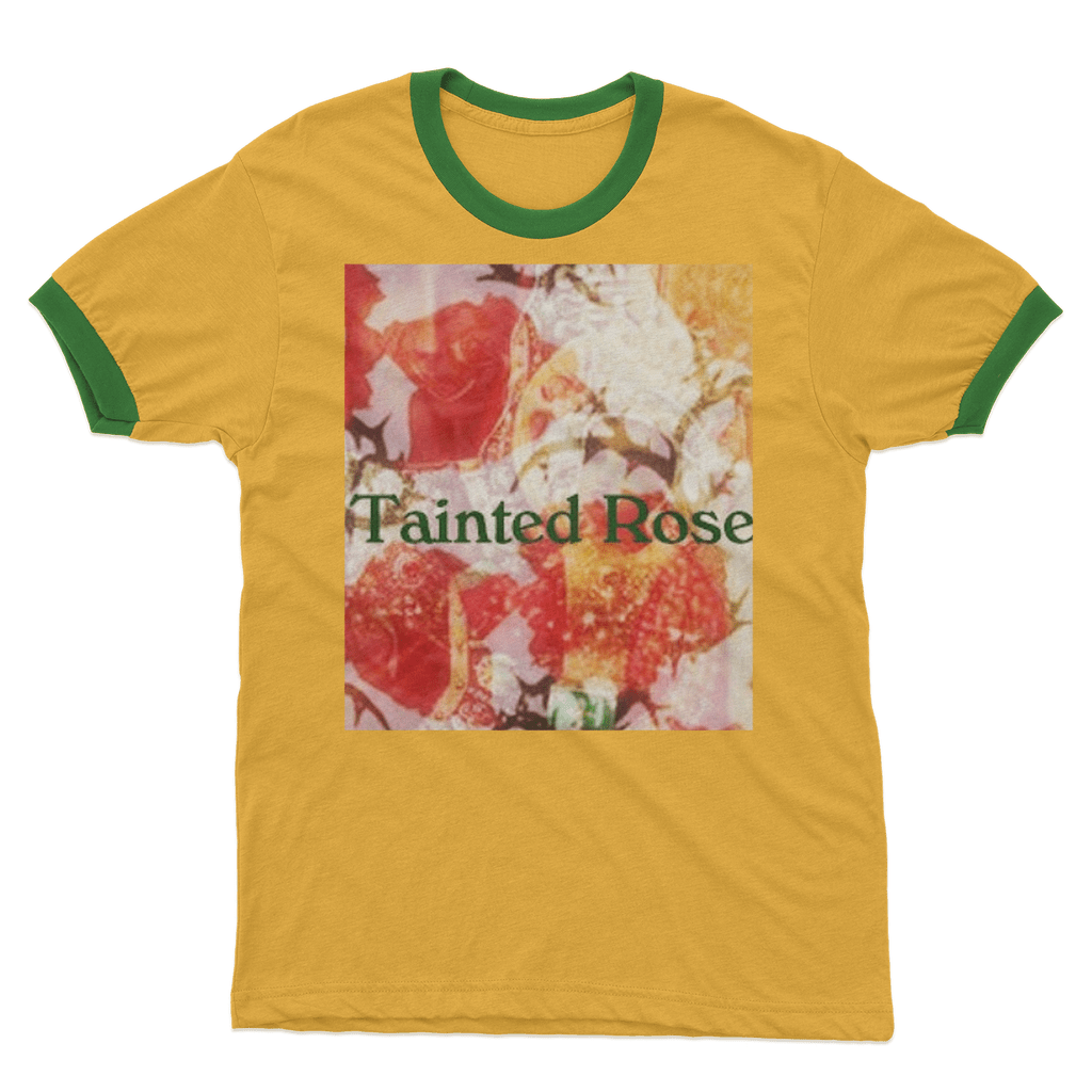 Sainted, Tainted Rose Ringer T-Shirt - Sp-oiled!
