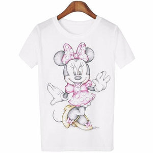 Minnie Kissing Mickey Scribbles T-Shirt and Many Other Cute Designs