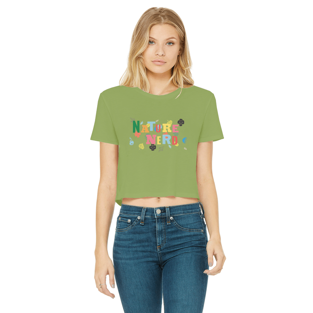 Nature Nerd Collection Classic Women's Cropped Raw Edge T-Shirt - Sp-oiled!