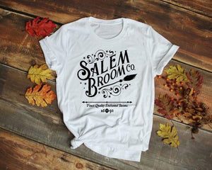 Salem Broom Co T-Shirt | Halloween Festive Fashion - Sp-oiled!