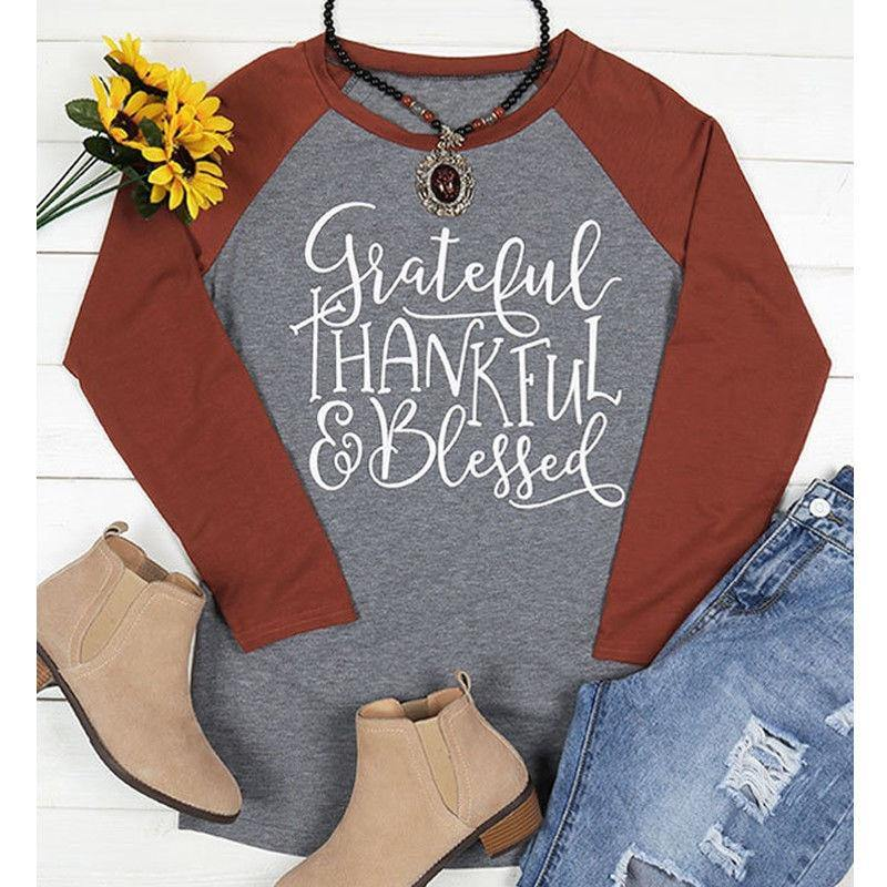 Grateful, Thankful and Blessed T-shirt ..... and 3 other Seasonal T's| I'm Spoiled - Sp-oiled!