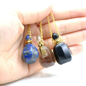 Perfume Bottle Necklace | Tiger's Eye, Obsidian and More - Sp-oiled!