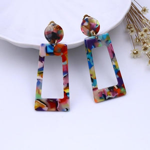 Tortoise Shell Style Colorful Clip on Earrings - Sp-oiled!