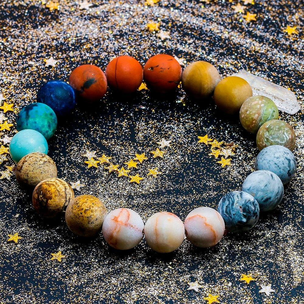 Planets in our Solar System Natural Stone Bracelet