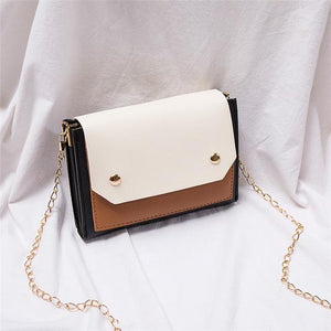 Mod Leather Envelope Handbag w/ Chain Strap - Sp-oiled!