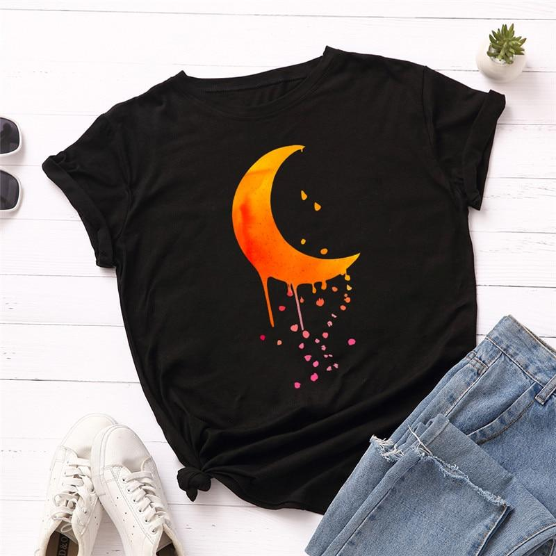 Exquisite Fall Dripping Crescent Moon T-Shirt | Choose Your Favorite Color | I'm Spoiled