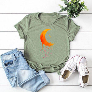 Dripping Crescent Moon T-Shirt | Choose Your Favorite Color | I'm Spoiled - Sp-oiled!