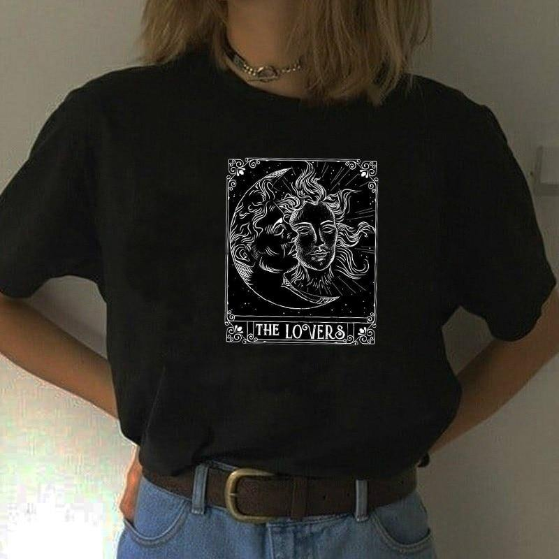 The Lovers Tarot Card Graphic T-Shirt