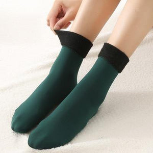 Solid Color Thick Cotton Blend Socks - Sp-oiled!