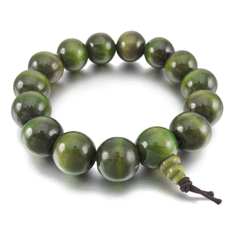 Green Sandalwood Bead Bracelet - Sp-oiled!