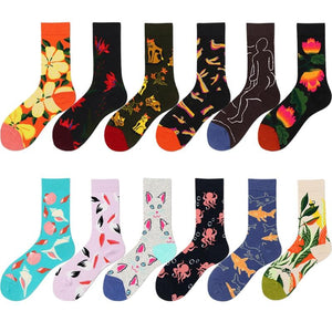 Floral and Fun Crew Socks - Sp-oiled!