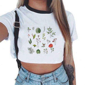 Shiny Happy People Crop Top T-shirts | 7 Designs to Choose From - Sp-oiled!