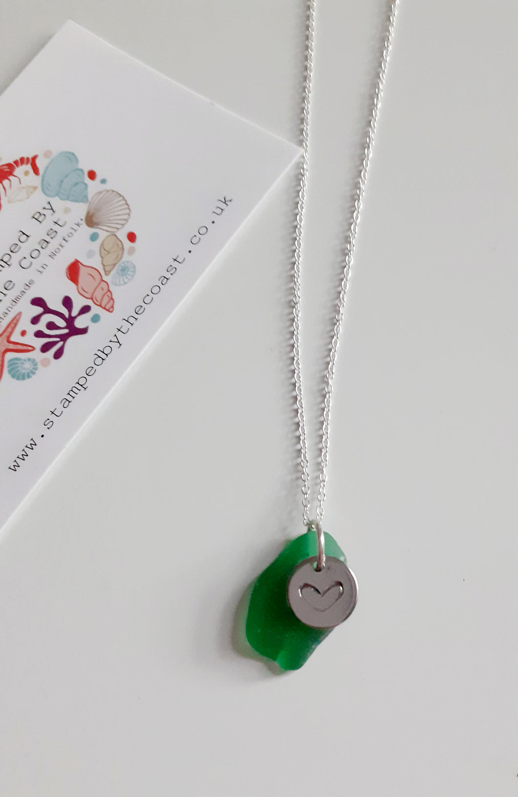 Personalised Norfolk Seaglass Necklace