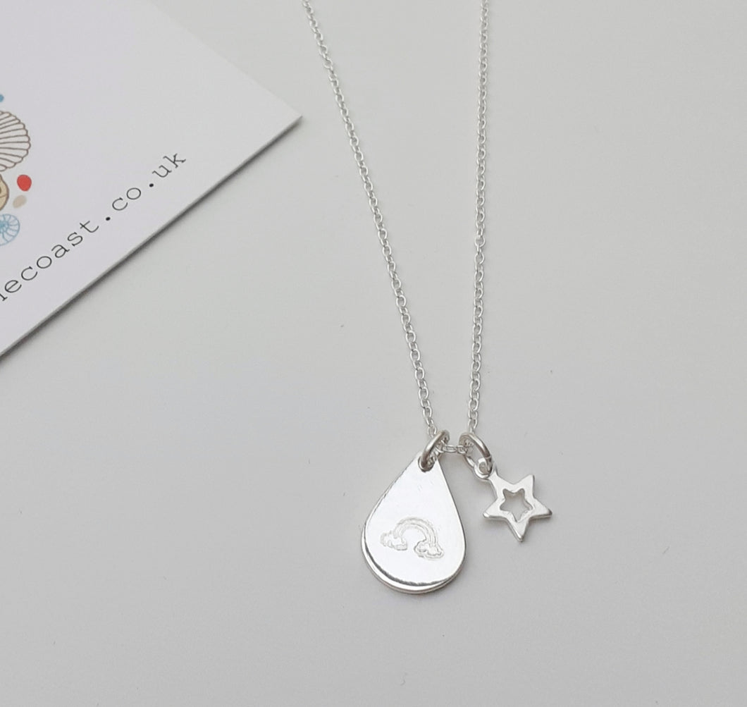 Silver 'Look For Rainbows' Necklace