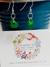 Load image into Gallery viewer, Silver Norfolk Sea Glass Hook Earrings
