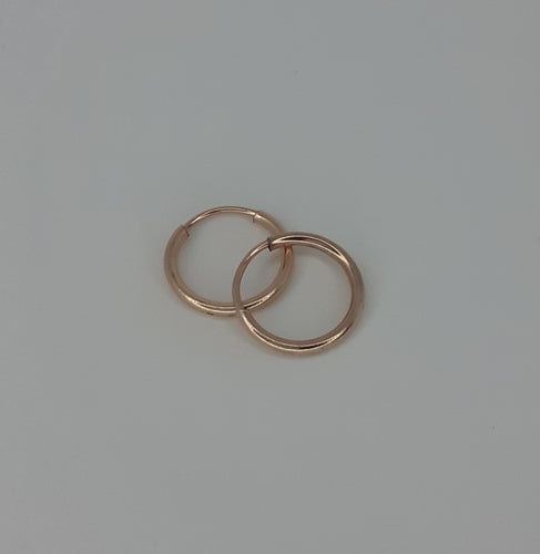 Rose Gold Filled Mini Hoop Earrings