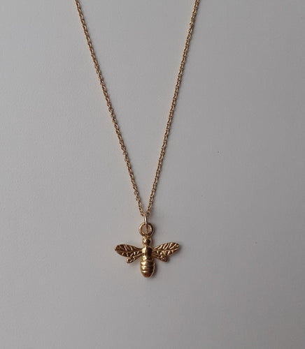 Gold Vermeil Bee Necklace
